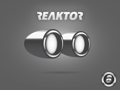 Reaktor logo photoshop illustrator matthieu petrella reactor alien 50s old school illustration identity branding