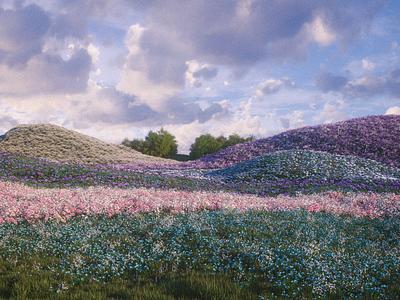 Dreamland 3d landscape
