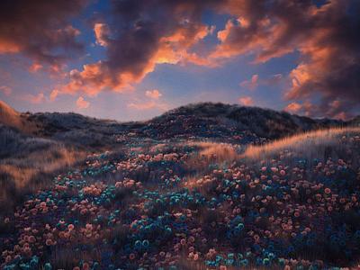 Trail 3d 3d art landscape illustration landscape