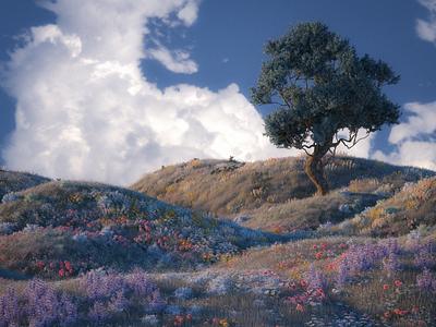 Wild octane cinema4d 3d art landscape illustration landscape 3d