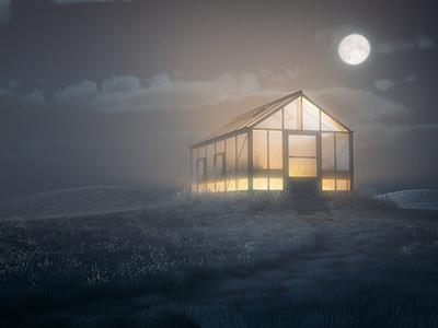 Glow octane cinema4d landscape illustration landscape 3d artist 3d art 3d