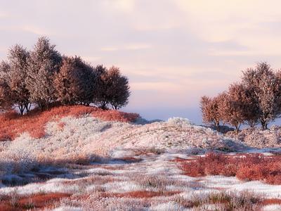 Undiscovered octane cinema4d landscape illustration landscapes 3d artist 3d art 3d