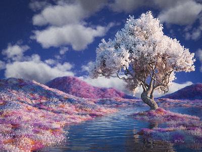 Hero octane cinema4d landscape illustration landscape 3d artist 3d art 3d