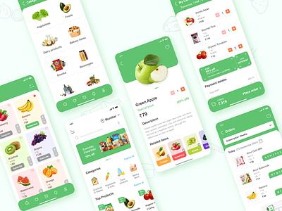 Grocery App Design ux app ui design graphic design