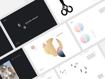 Saison Group Branding minimal guideline color palette brandbook logo visual identity design modern logo logo design brand branding
