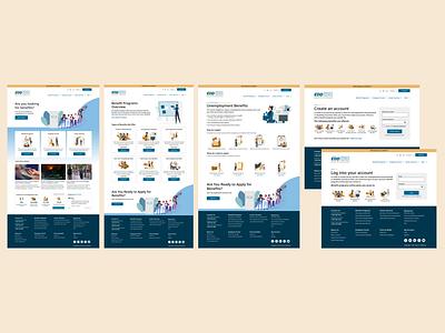 California EDD Government Website Redesign visual design interaction design illustration information architecture website government logo dashboard ux ui redesign design branding app