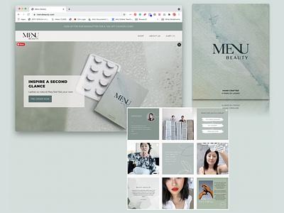 Menu Beauty Branding, Website Redesign & Marketing Strategy web design interaction design visual design strategy brand social media marketing responsive design website beauty website logo dashboard ux ui redesign design branding app