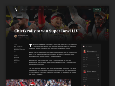 Sports Article Concept