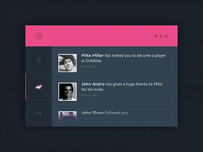 Thank You Mike Miller! ui thank you interface web web design debut flat design