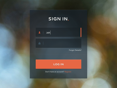 Sign In Form ui web web design button form login log in sign in icons dark