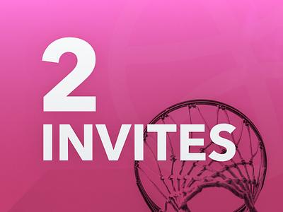 2 Dribbble Invites dribbble invitiations invites draft