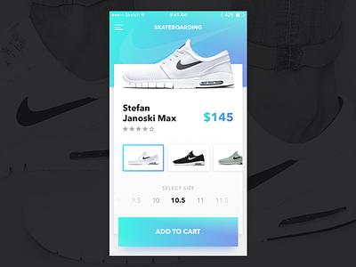 Janoski Max shoes gradient skateboarding skate mobile janoski shoe nike ios interface clean ui