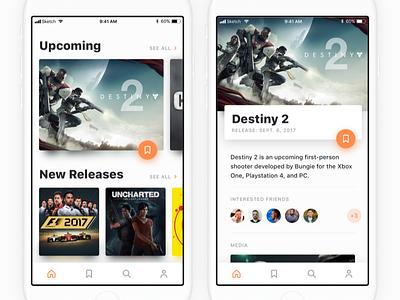 Vidya Games interface white clean destiny video games ios ui