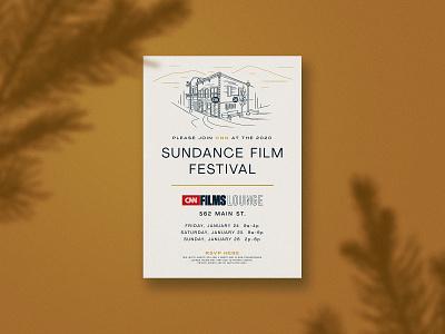 CNN Films Sundance 2020 Invite illustration invite park city sundance film festival