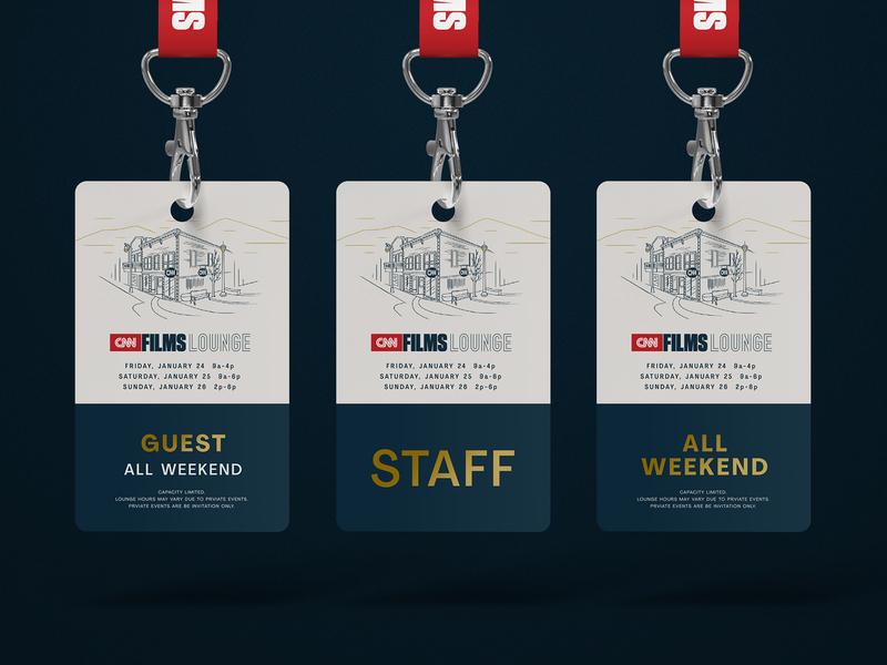 CNN Sundance Film Festival Credential Badges credentials badges park city sundance film festival cnn