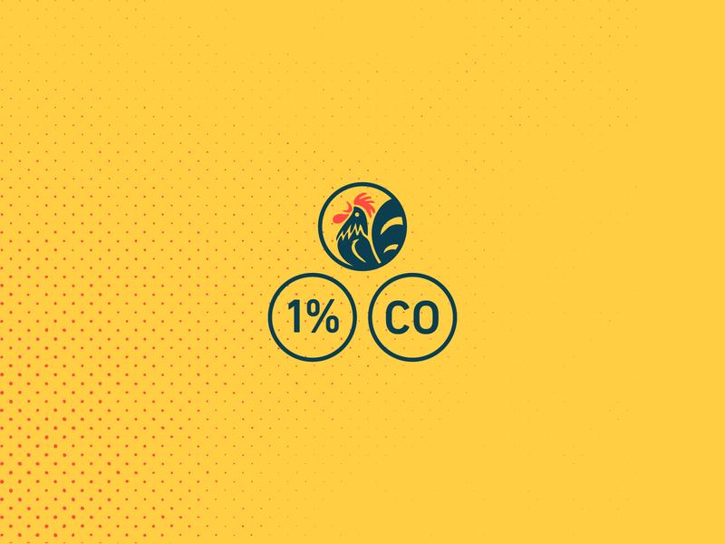 Chicken Triangle community colorado restaurant illustration icon branding fried chicken