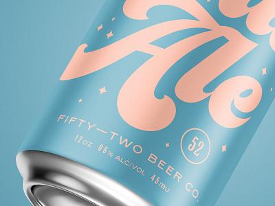 Ale fermentation can design typogaphy mockup beer branding beer