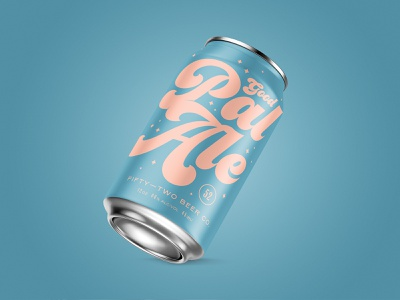 Good Pal Ale vintage fermentation typography can design mockup branding beer