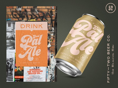 Drink Good Pal Ale packaging vintage branding bag poster typography fermentation can design mockup beer branding beer