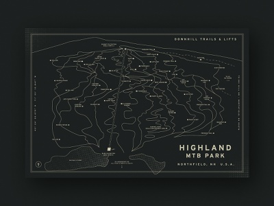 Highland MTB Park Trail Map wayfinding new hampshire trail map downhill mountain bike mountain map