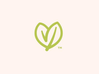 Birch Baby Brand Mark icon heart diapers organic baby leaf brand mark logo