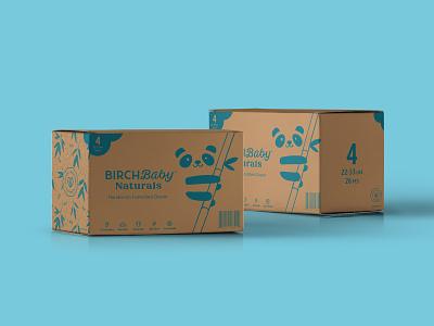 Birch Baby Shipper birch baby illustration packaging