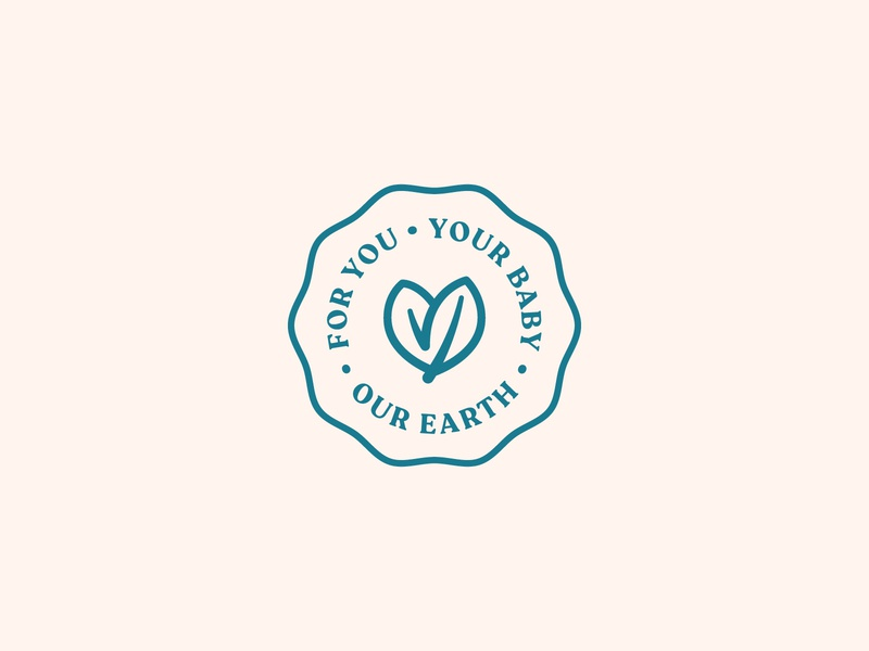 Baby Badge baby organic heart badge branding packaging diapers