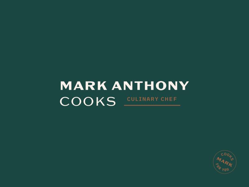 Mark Anthony Cooks Logo chicago food restaurant cooking typography branding logo