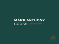 Mark Anthony Cooks Logo chicago food restaurant cooking typography branding logo