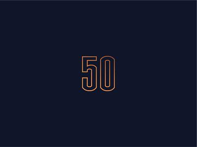 50 Causeway numbers typography identity branding and identity hub50house boston address realestate branding logo