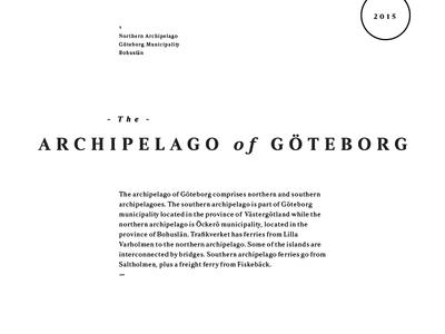 The Archipelago of Göteborg