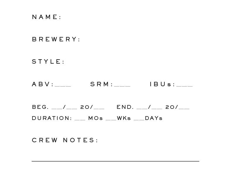 Log Book abv records military typography flight log beer log book