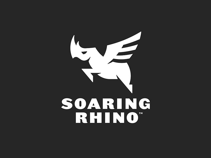 Soaring Rhino Final Logo brand development logo branding soaring rhino