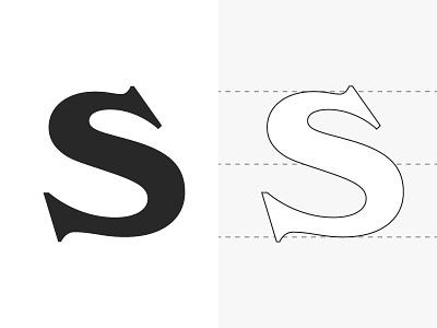 Custom S type windsor custom typography