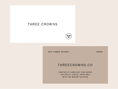 Three Crown Business Cards