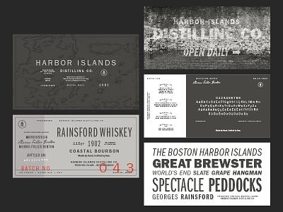 Franklin Gothic Series map ocean harbor boston distillery distilling alcohol specimen typography type