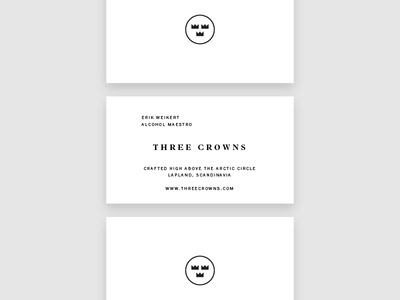 Three Crowns Business Cards