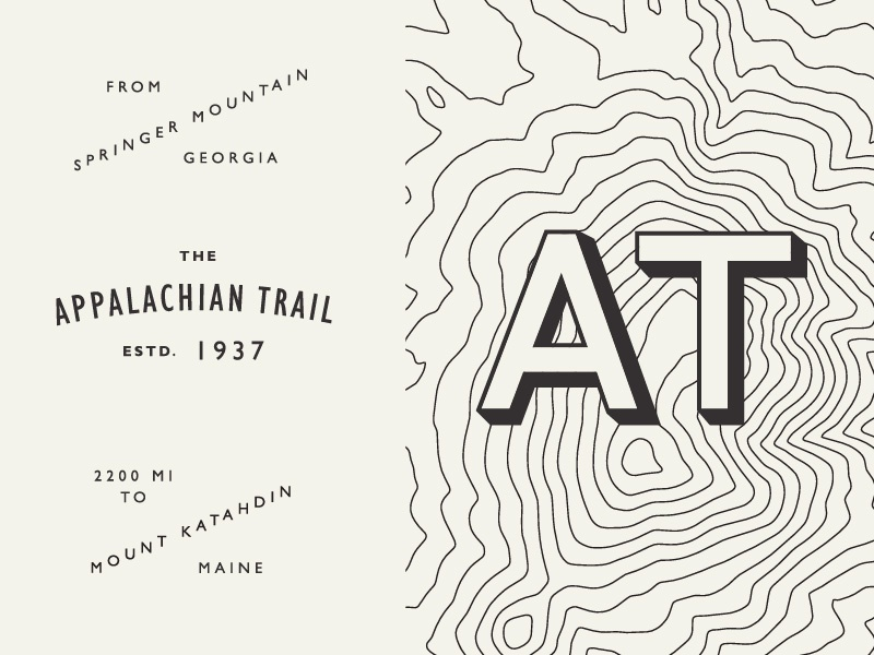 Monday Madness: Trails! maps topography hiking trails type challenge typography monday madness