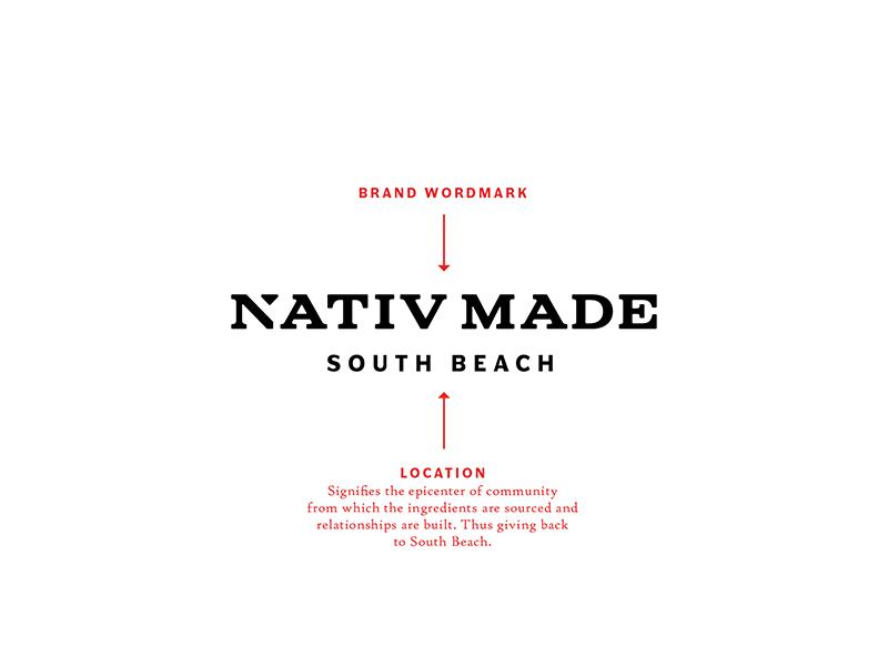 Nativ Made Wordmark brand development cold press beverage food photography packaging logo brand branding