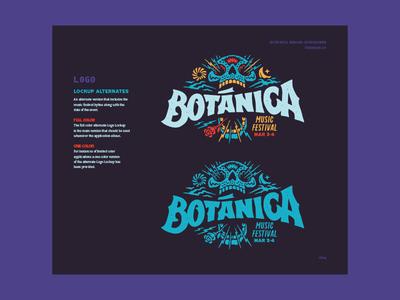 Botánica Logo Variations