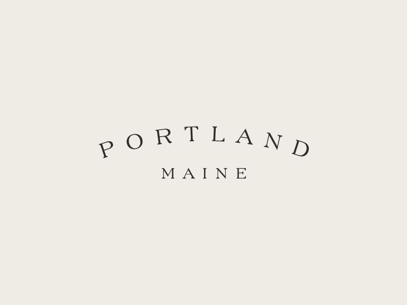 Portland atlantic sea coast typography maine portland