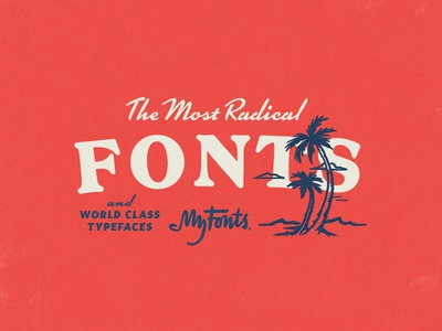 MyFonts Surf Advertisement 02 waves beach ocean surf illustration typography fonts myfonts