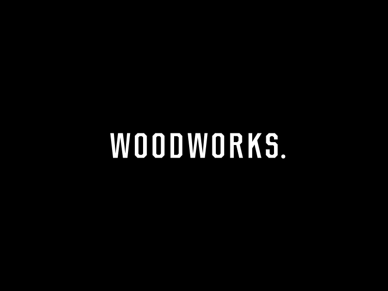 Woodworks chamfer custom type typography wood woodworking