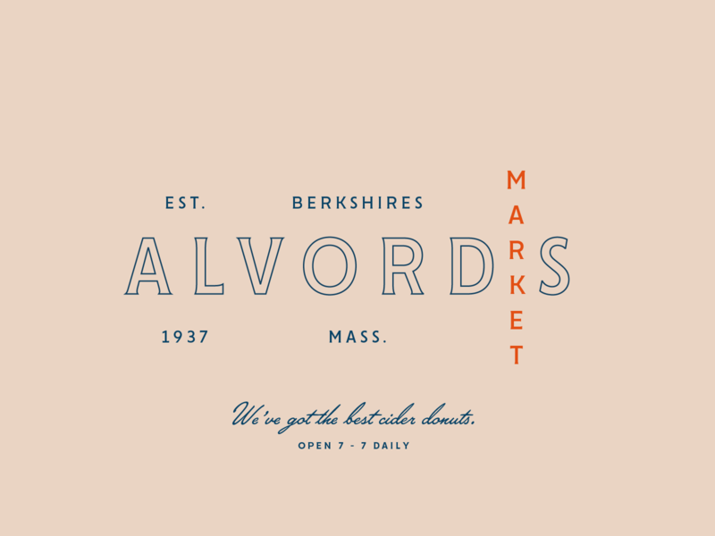 BSDS Thunderdome: Alvord's Market cider donuts new england vintage logo typography type thunderdome bsds