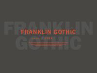Franklin Gothic Study