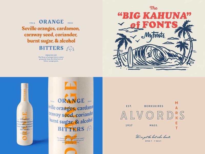 2018 myfonts logo design branding vintage typography