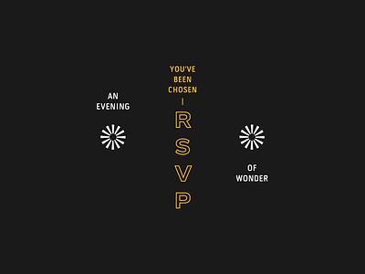 RSVP rsvp invite typography