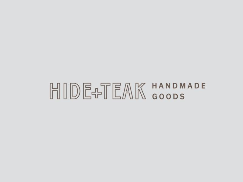 Hide + Teak Logo leather goods handmade leather logo