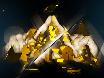 Triad triad illustration cinema 4d poster