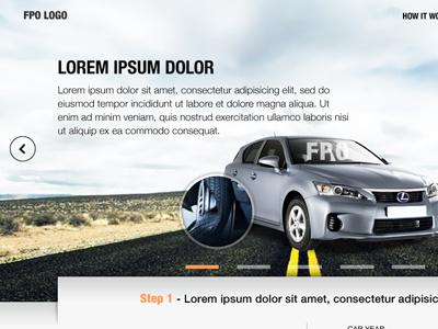 Webdesign concept design website concept header closeup carousel slider